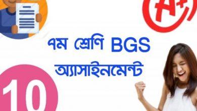 bgs assignment class 7