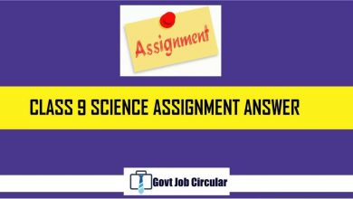 class 9 science assignment answer