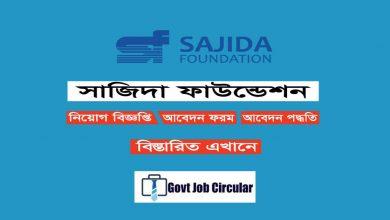 Sajida Foundation Job